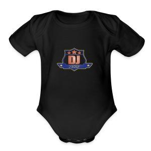 DJ_J_Soup_Blue - Short Sleeve Baby Bodysuit
