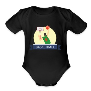 Basketball - Short Sleeve Baby Bodysuit