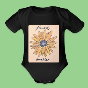 forest dweller Flower - Short Sleeve Baby Bodysuit