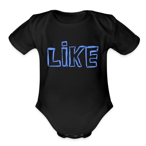 i like a? - Organic Short Sleeve Baby Bodysuit