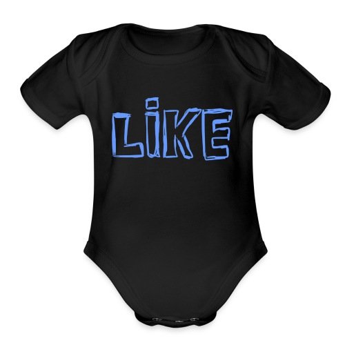 i like a? - Organic Short Sleeve Baby Bodysuit