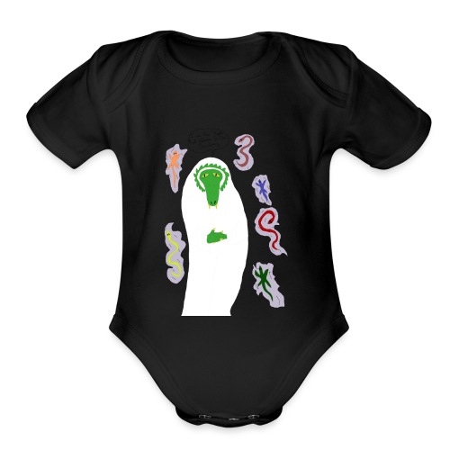 Holy Reptile Priest - Organic Short Sleeve Baby Bodysuit