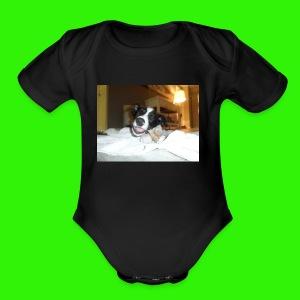 Sportswear (Eating Bone) - Short Sleeve Baby Bodysuit