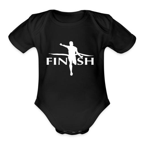 AC - Finish - Organic Short Sleeve Baby Bodysuit