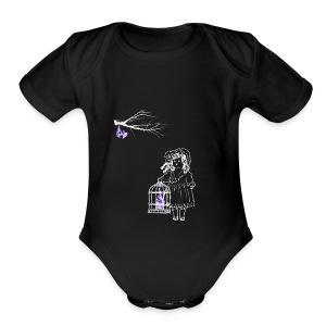 Caged Bat - Short Sleeve Baby Bodysuit