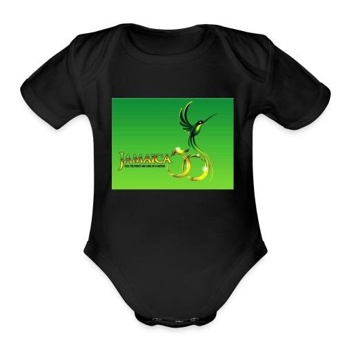 Jamaica 50 bird t shirt - Organic Short Sleeve Baby Bodysuit