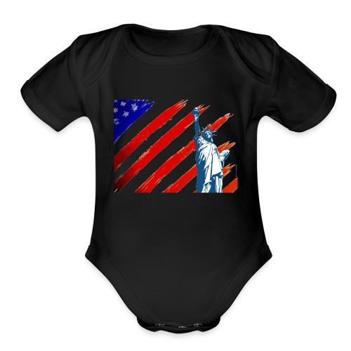 American Liberty - Organic Short Sleeve Baby Bodysuit