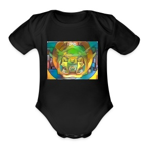 fractal art - Short Sleeve Baby Bodysuit