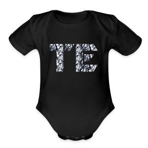 te grey camo sign - Short Sleeve Baby Bodysuit