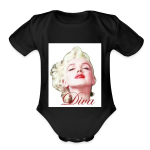 Marilyn Diva - Short Sleeve Baby Bodysuit
