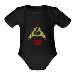 Love TWD - Short Sleeve Baby Bodysuit