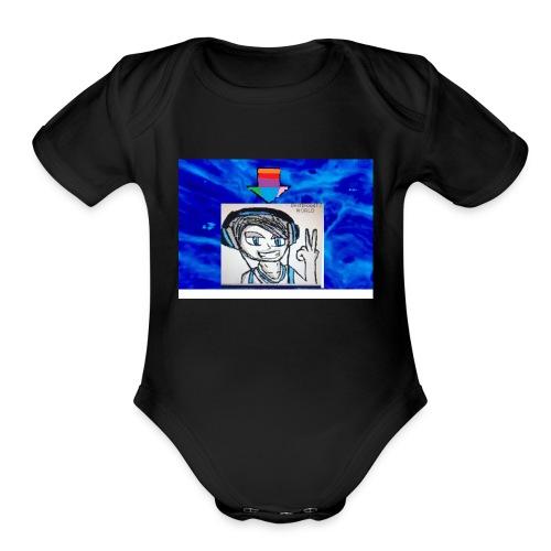 new logo - Organic Short Sleeve Baby Bodysuit