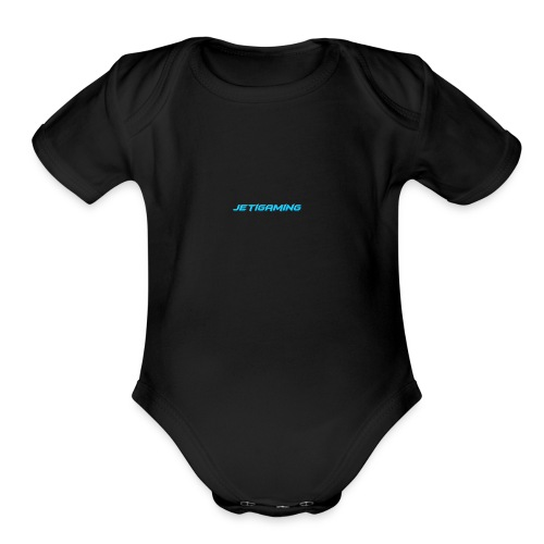 JetiShirt Black - Organic Short Sleeve Baby Bodysuit