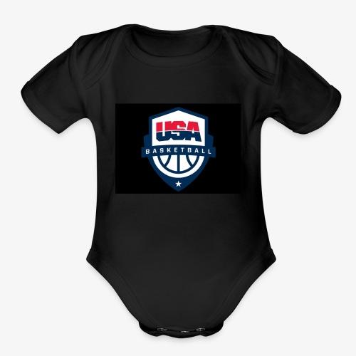 Team USA phone cases or shirts - Organic Short Sleeve Baby Bodysuit