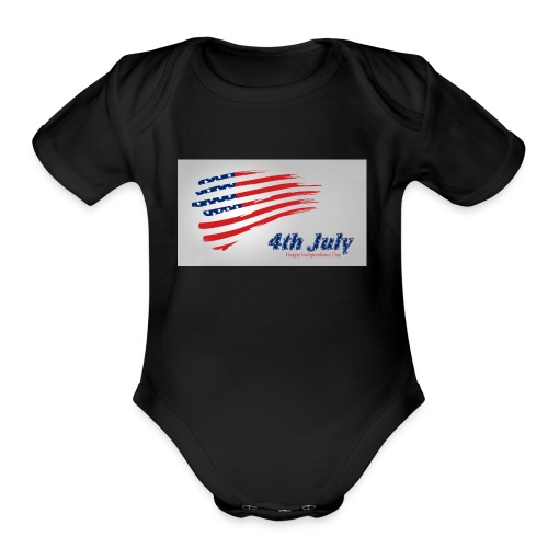 USA Independence Day 2 - Organic Short Sleeve Baby Bodysuit