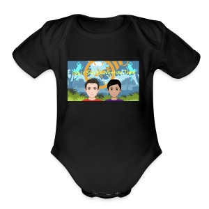 Gabi&sofis adventure time - Short Sleeve Baby Bodysuit