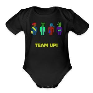 Spaceteam Team Up! - Short Sleeve Baby Bodysuit