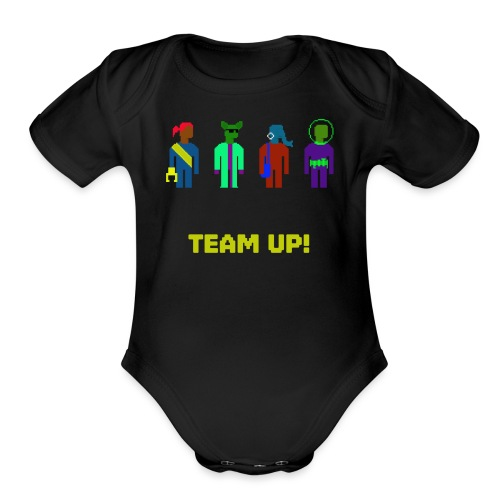 Spaceteam Team Up! - Organic Short Sleeve Baby Bodysuit