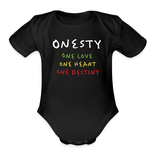 ONESTY WEAR : 2017 S01 - Organic Short Sleeve Baby Bodysuit