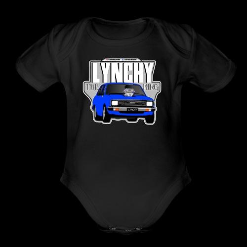 LYNCHY (THE KING) - Organic Short Sleeve Baby Bodysuit