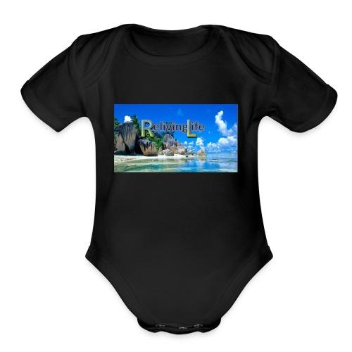 Reliving Life - Organic Short Sleeve Baby Bodysuit