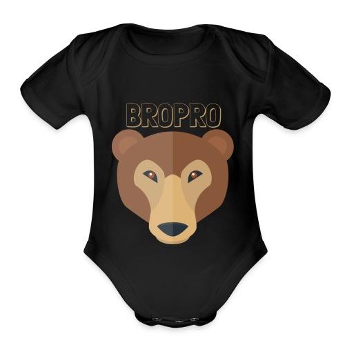 BROPRO - Organic Short Sleeve Baby Bodysuit