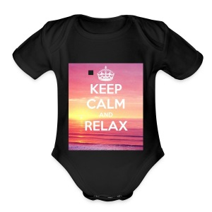 keep calm - Short Sleeve Baby Bodysuit