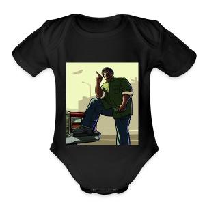 Big Smoke Sa - Short Sleeve Baby Bodysuit