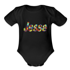 jesse no bg - Short Sleeve Baby Bodysuit