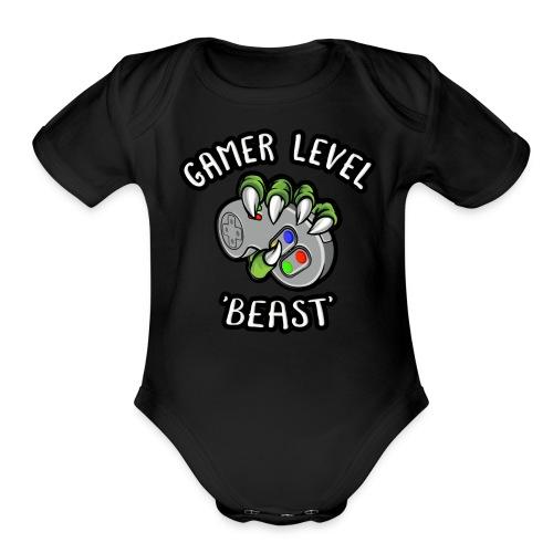 GAMER LEVEL - Organic Short Sleeve Baby Bodysuit
