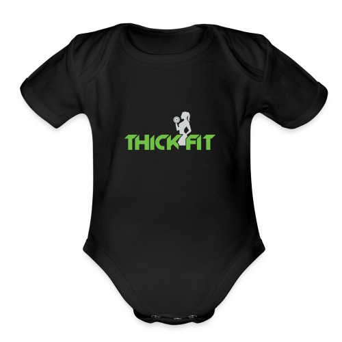 thick_fit_green_without_tag_line - Organic Short Sleeve Baby Bodysuit