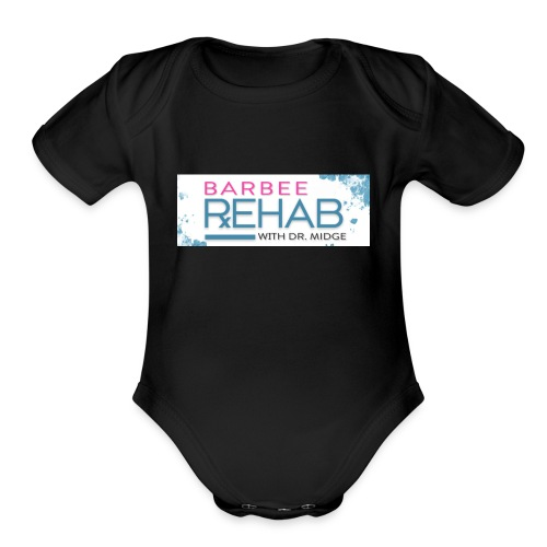 barbeerehabpink - Organic Short Sleeve Baby Bodysuit