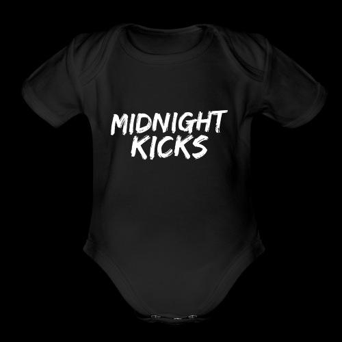 Midnight Kicks Logo - Organic Short Sleeve Baby Bodysuit