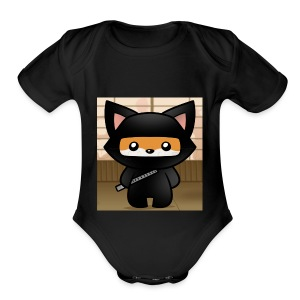 how-to-draw-a-ninja-fox_1_000000018972_5 - Short Sleeve Baby Bodysuit