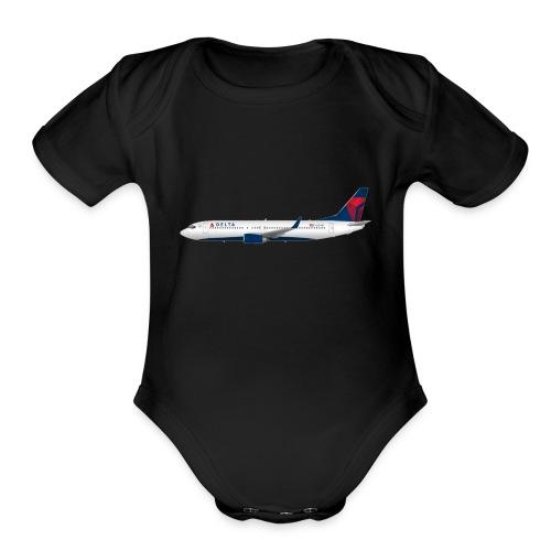 Delta Pooplines - Organic Short Sleeve Baby Bodysuit