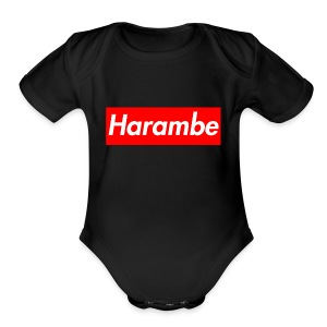 Harambe x Supreme Box Logo - Short Sleeve Baby Bodysuit