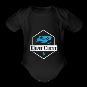 DivanQuest Logo (Badge) - Short Sleeve Baby Bodysuit