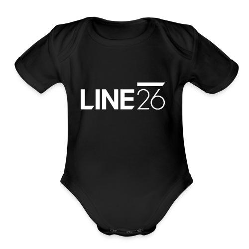Line26 Logo (Light Version) - Organic Short Sleeve Baby Bodysuit