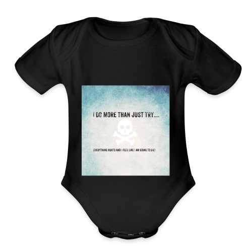 I do more than try - Organic Short Sleeve Baby Bodysuit