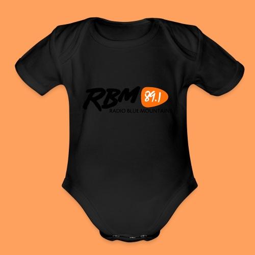 RBM Logo - Orange - Organic Short Sleeve Baby Bodysuit
