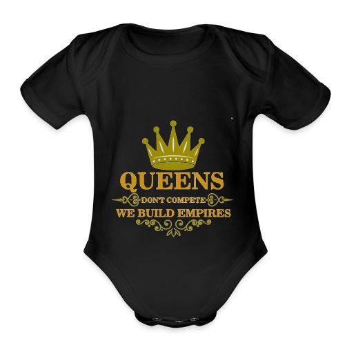 Empire - Organic Short Sleeve Baby Bodysuit
