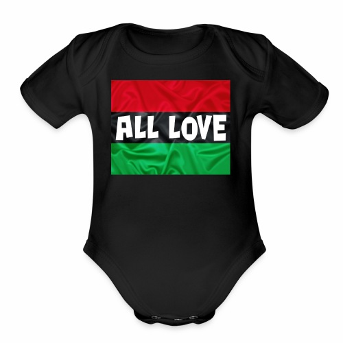 ALL LOVE - Organic Short Sleeve Baby Bodysuit
