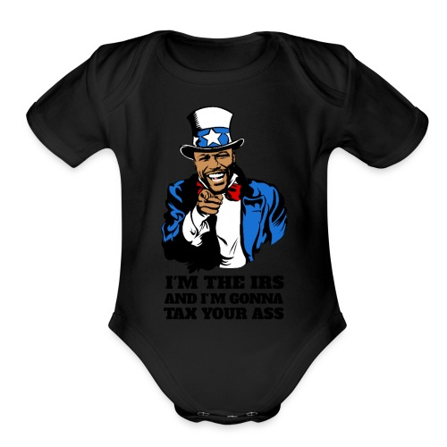 Floyd Mayweather - Im The IRS - Uncle Sam (Light) - Organic Short Sleeve Baby Bodysuit
