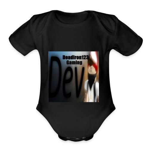 Deadiron123 Gaming Dev Phone case. - Organic Short Sleeve Baby Bodysuit