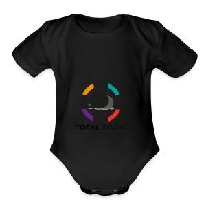 Logo_Total_Social_PNG_03 - Short Sleeve Baby Bodysuit
