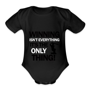 cricket wining tee - Short Sleeve Baby Bodysuit