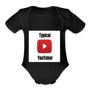 Typical YouTuber Logo - Short Sleeve Baby Bodysuit