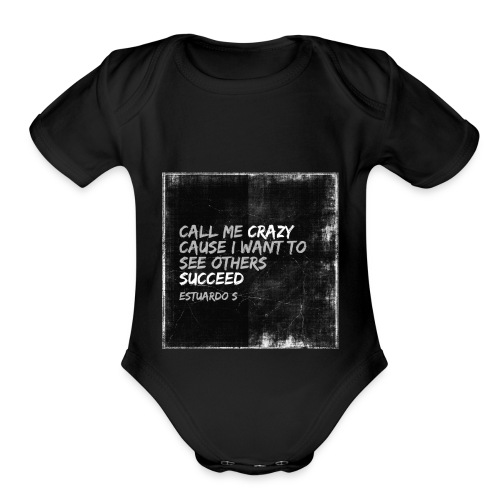 Crazy - Organic Short Sleeve Baby Bodysuit