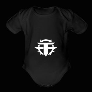 Black and white Official Text Hoodie/T Shirt - Short Sleeve Baby Bodysuit