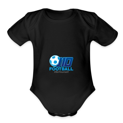 J10football merchandise - Organic Short Sleeve Baby Bodysuit